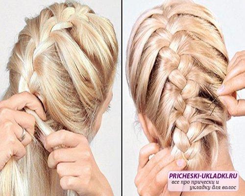 колоски для длинных волос