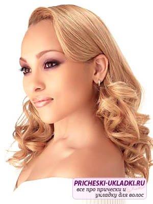 Свадебная укладка волос средней длины