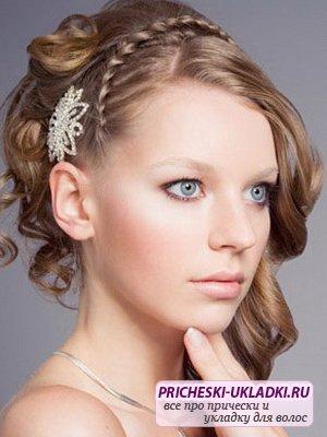 Волосы но все же прически свадебные с