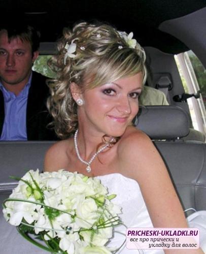 Свадебная укладка каре