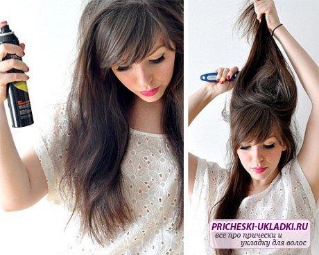 Укладка длинных волос в домашних условиях