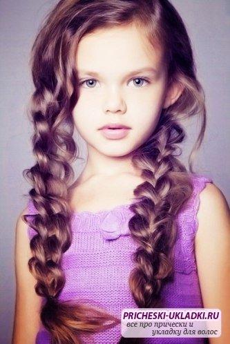 Прически для длинных волос для девочек