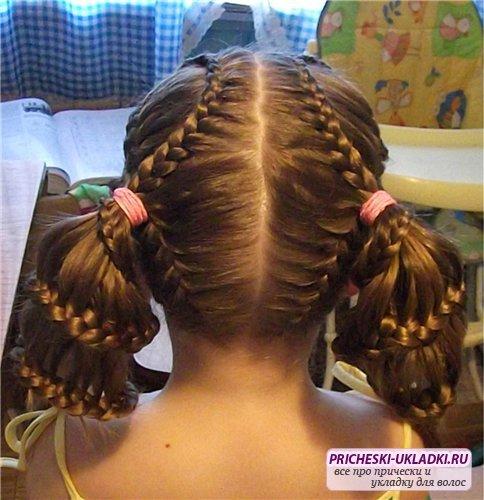 Прически для длинных волос в школу своими руками фото