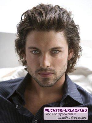 Мужская причёска для жестких волос