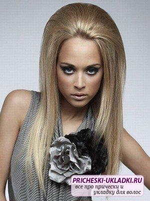 Красивая укладка прямых волос