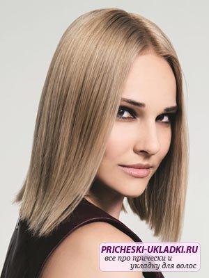 Гладкая укладка волос