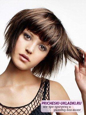 Стильная стрижка сессон на средние волосы