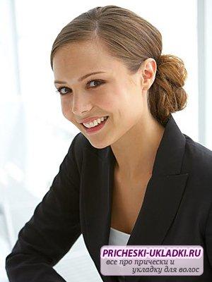 Женские деловые прически на длинные волосы