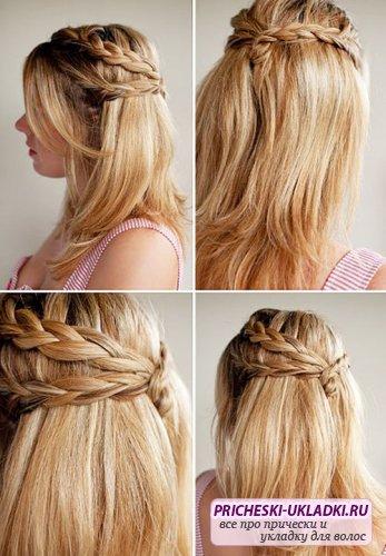 Прически на средние волосы легкие с челкой