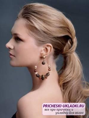 Красивые прически на среднюю длину волос