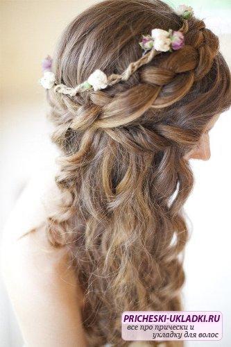 Прически на выпускной на среднюю длину волос с челкой фото