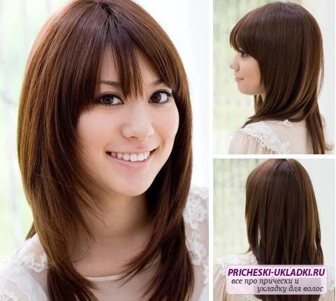 стрижка на средний волос каскад фото
