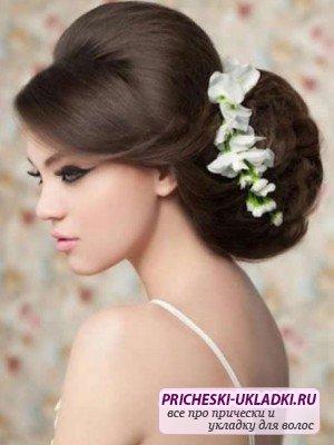 Подбираем прически на средние волосы на свадьбу