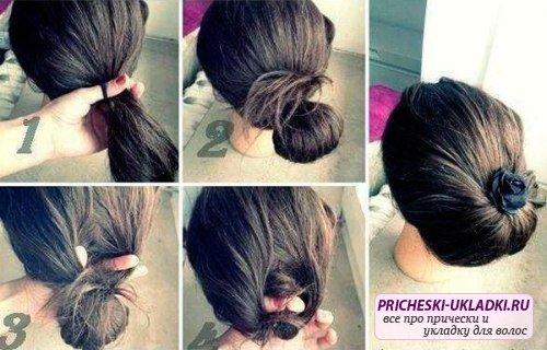 Причёски на средние волосы поэтапно своими руками
