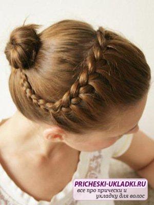 Красивая детская причёска на праздник