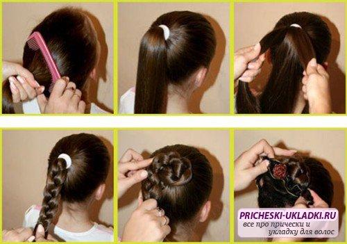 Детские прически на каждый день на длинные волосы