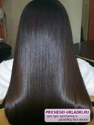 бразильское выпрямление волос кератином