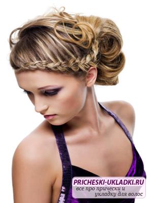 Красивое плетение волос на праздник
