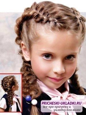 Милые прически для маленьких девочек