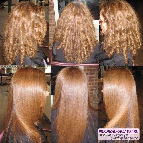 Как делать домашнее выпрямление волос