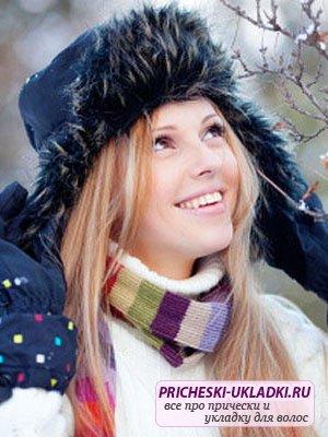 Уход за сухими волосами зимой