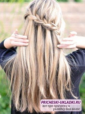 Осваиваем плетение косы водопад