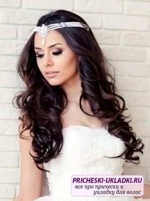 Распущенные волосы на свадьбу: за и против