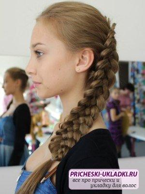Модные прически в школу для старшеклассниц