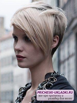 Короткая стрижка с длинными волосами - оригинально и стильно